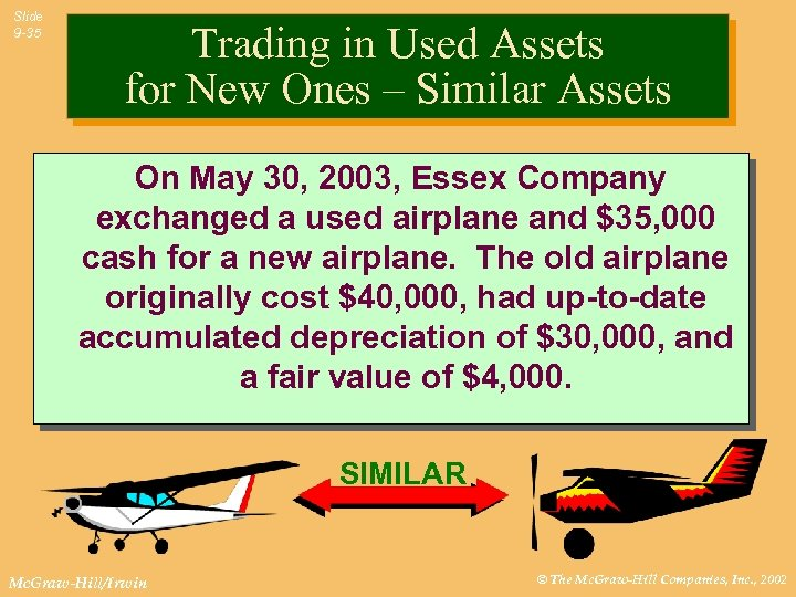 Slide 9 -35 Trading in Used Assets for New Ones – Similar Assets On