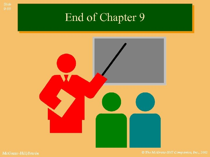 Slide 9 -55 End of Chapter 9 Mc. Graw-Hill/Irwin © The Mc. Graw-Hill Companies,