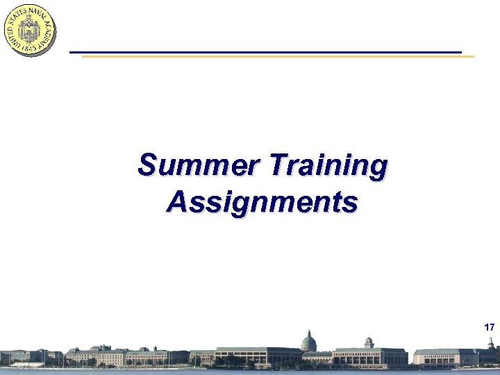 Summer Training Assignments 17