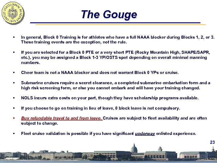 The Gouge § In general, Block 0 Training is for athletes who have a