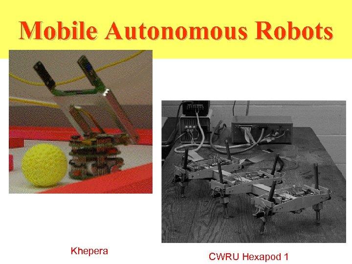 Mobile Autonomous Robots Khepera CWRU Hexapod 1