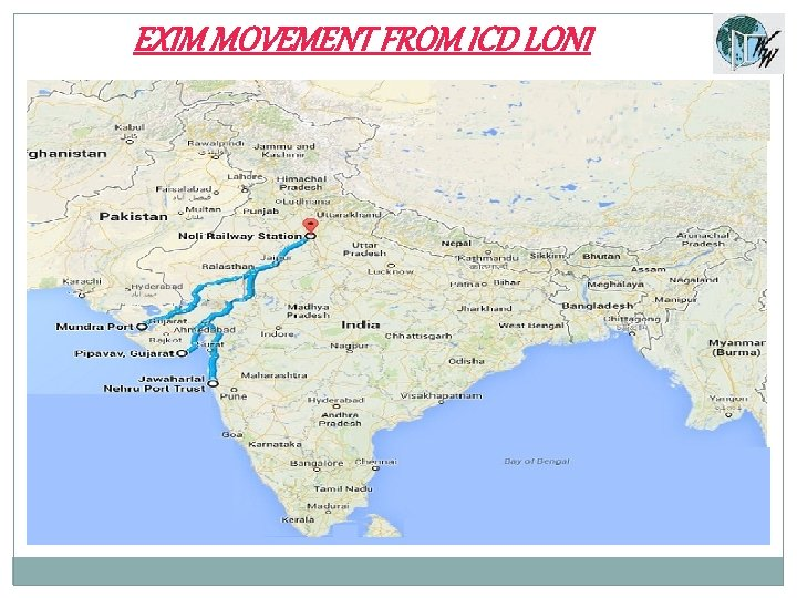 EXIM MOVEMENT FROM ICD LONI