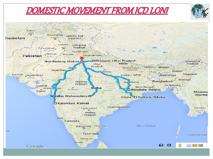 DOMESTIC MOVEMENT FROM ICD LONI
