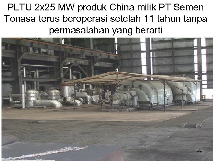 PLTU 2 x 25 MW produk China milik PT Semen Tonasa terus beroperasi setelah