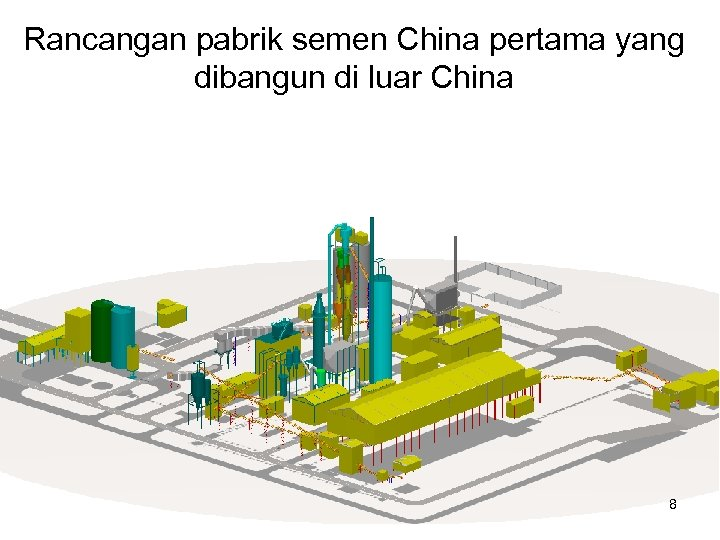 Rancangan pabrik semen China pertama yang dibangun di luar China 8