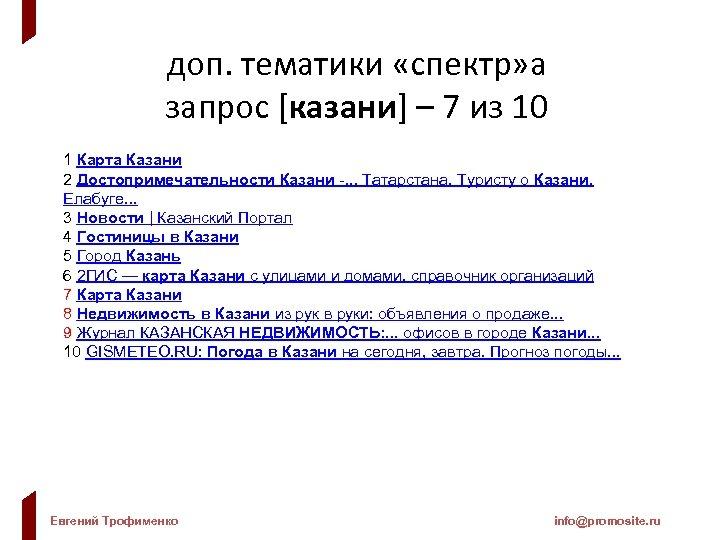 доп. тематики «спектр» а запрос [казани] – 7 из 10 1 Карта Казани 2