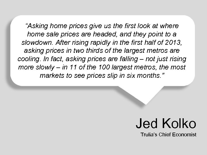 """Asking home prices give us the first look at where home sale prices are"