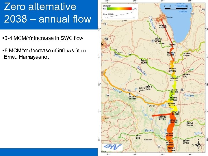 Zero alternative 2038 – annual flow § 3 -4 MCM/Yr increase in SWC flow