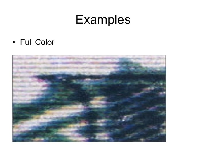 Examples • Full Color