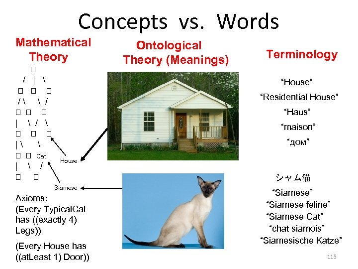 Concepts vs. Words Mathematical Theory /    /  /    /
