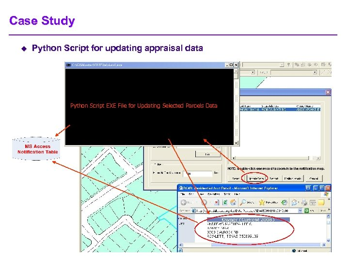 Case Study u Python Script for updating appraisal data Python Script EXE File for