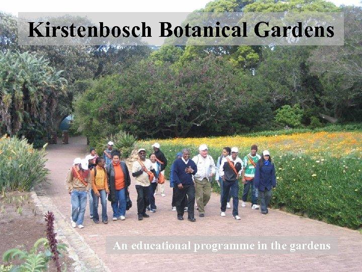 Kirstenbosch Botanical Gardens An educational programme in the gardens