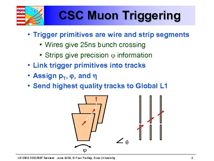 CSC Muon Triggering • Trigger primitives are wire and strip segments • Wires give