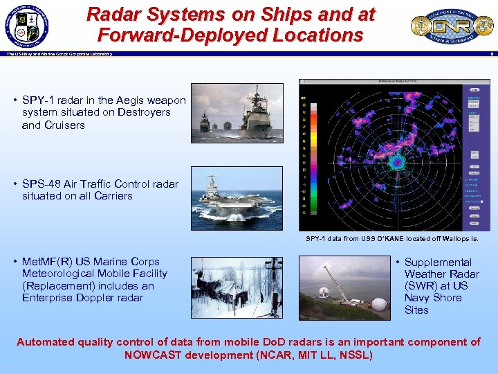 Radar Systems on Ships and at Forward-Deployed Locations 8 The US Navy and Marine