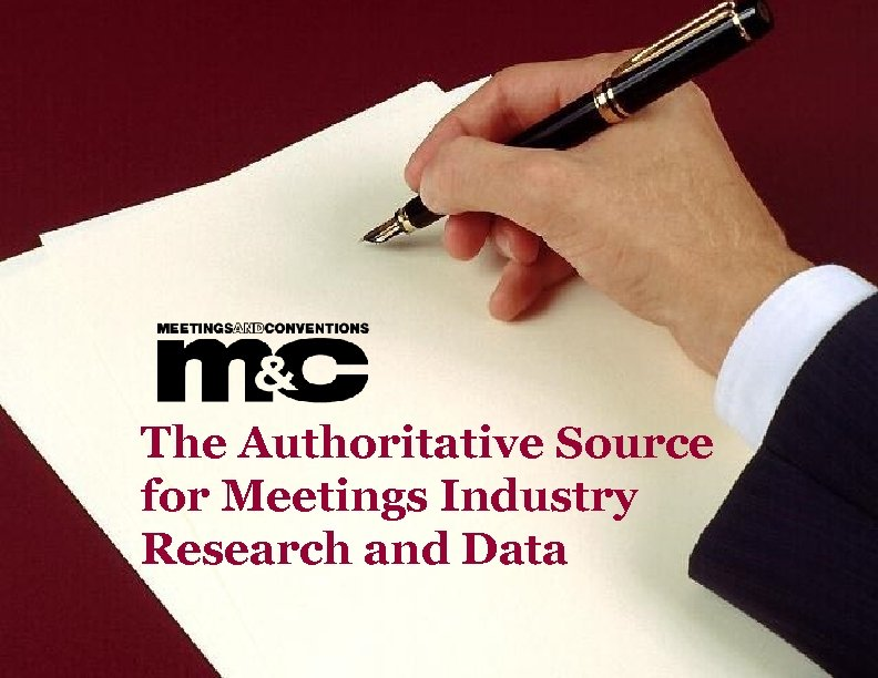 The Authoritative Source for Meetings Industry Research and Data