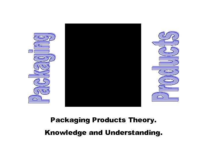 Packaging Products Theory. Knowledge and Understanding.