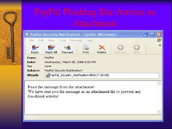 Pay. Pal Phishing Site Arrives as Attachment