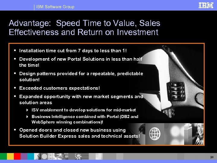 IBM Software Group Advantage: Speed Time to Value, Sales Effectiveness and Return on Investment