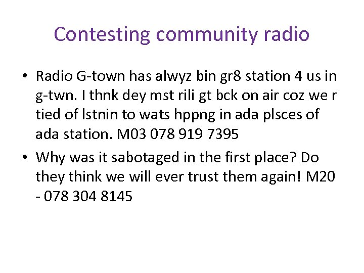 Contesting community radio • Radio G-town has alwyz bin gr 8 station 4 us