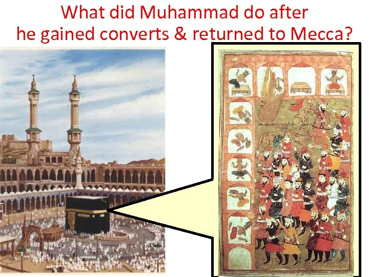 What did Muhammad do after he gained converts & returned to Mecca?