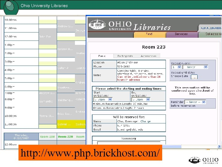 Ohio University Libraries http: //www. php. brickhost. com/