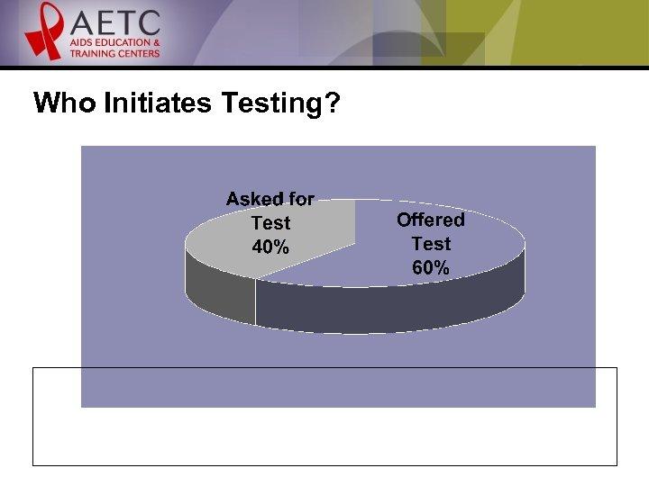 Who Initiates Testing?