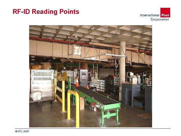 RF-ID Reading Points © IPC, 2007