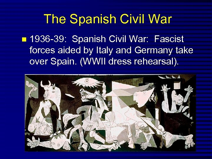 The Spanish Civil War 1936 -39: Spanish Civil War: Fascist forces aided by Italy