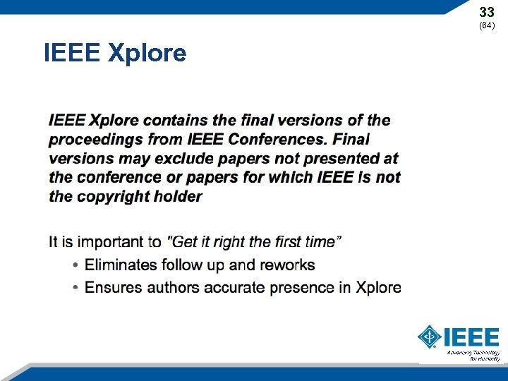 33 (64) IEEE Xplore