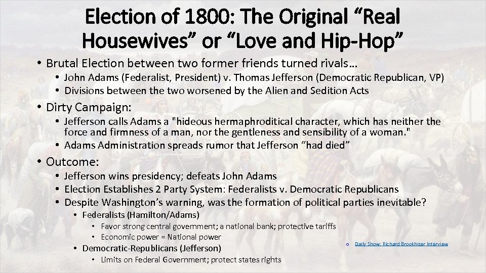 """Election of 1800: The Original """"Real Housewives"""" or """"Love and Hip-Hop"""" • Brutal Election"""