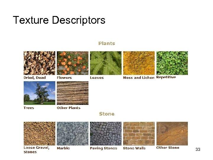 Texture Descriptors 33