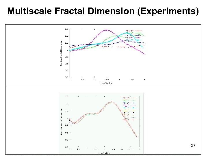 Multiscale Fractal Dimension (Experiments) 37