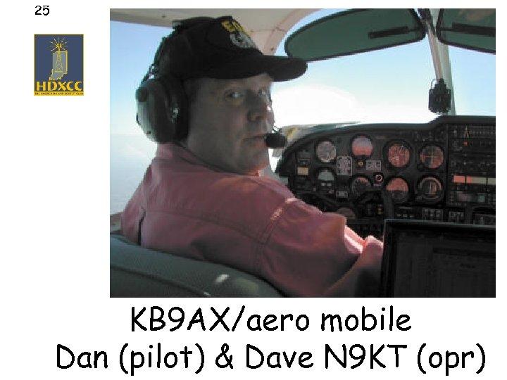 25 KB 9 AX/aero mobile Dan (pilot) & Dave N 9 KT (opr)