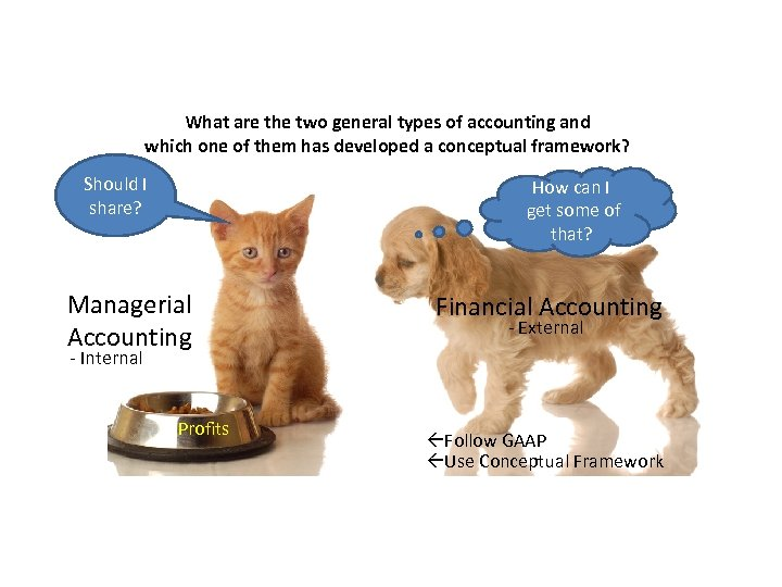 What are the two general types of accounting and which one of them has