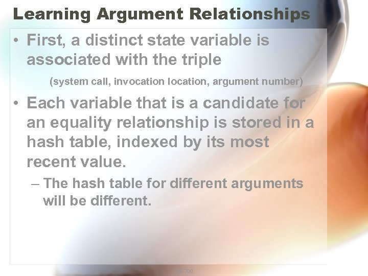 Learning Argument Relationships • First, a distinct state variable is associated with the triple
