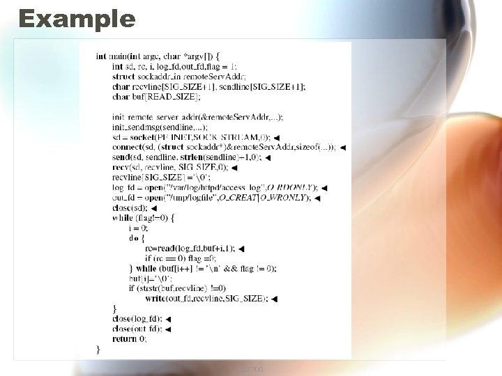 Example CIS 700