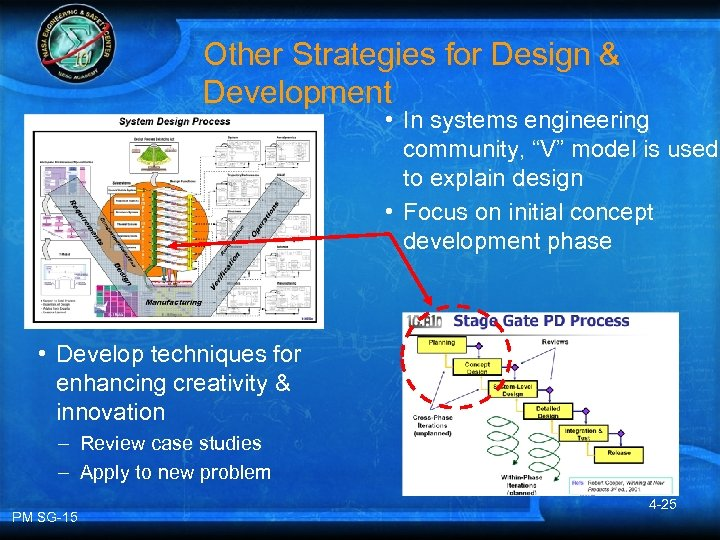 """Other Strategies for Design & Development • In systems engineering community, """"V"""" model is"""