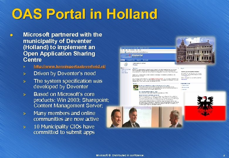OAS Portal in Holland l Microsoft partnered with the municipality of Deventer (Holland) to
