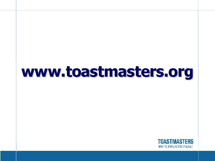 www. toastmasters. org