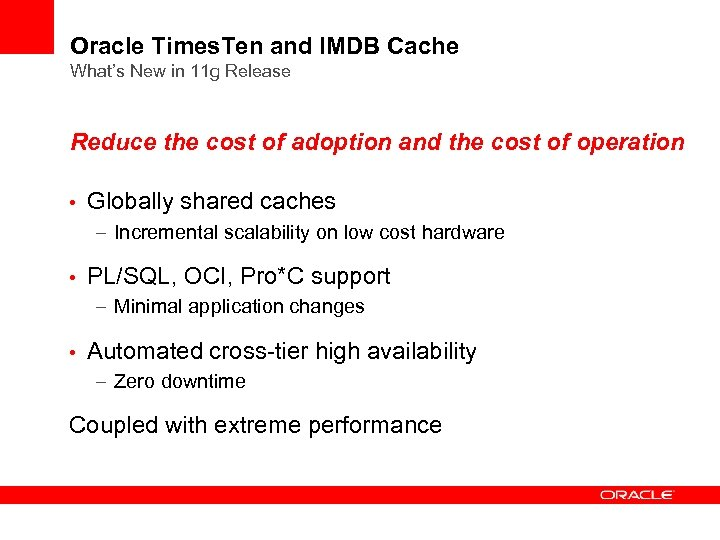 What s New in Oracle Times Ten In-Memory Database