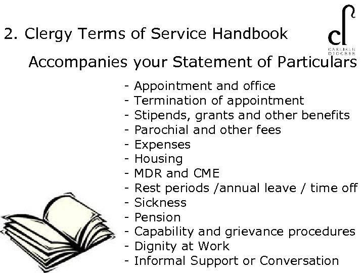 2. Clergy Terms of Service Handbook Accompanies your Statement of Particulars - Appointment and