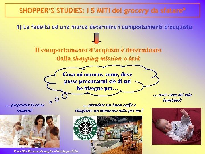 SHOPPER'S STUDIES: I 5 MITI del grocery da sfatare* 1) La fedeltà ad una