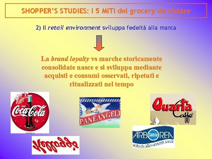 SHOPPER'S STUDIES: I 5 MITI del grocery da sfatare 2) Il retail environment sviluppa