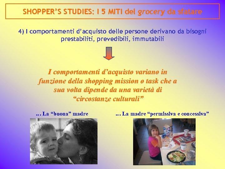 SHOPPER'S STUDIES: I 5 MITI del grocery da sfatare 4) I comportamenti d'acquisto delle
