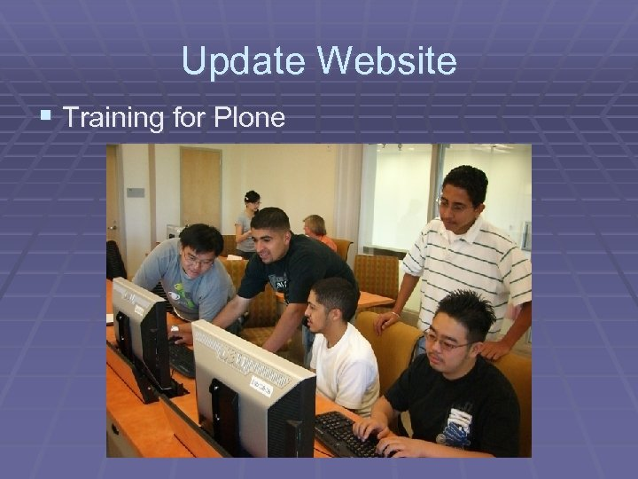 Update Website § Training for Plone