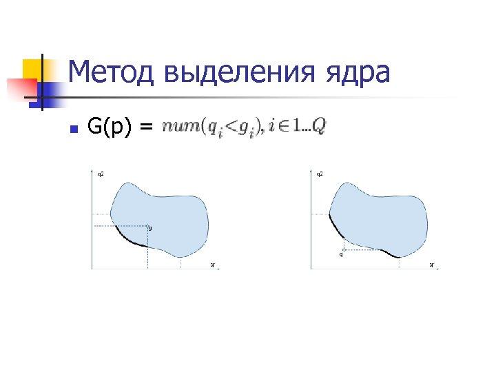 Метод выделения ядра n G(p) =