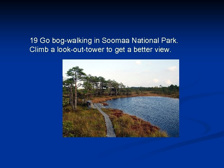 19 Go bog-walking in Soomaa National Park. Climb a look-out-tower to get a better