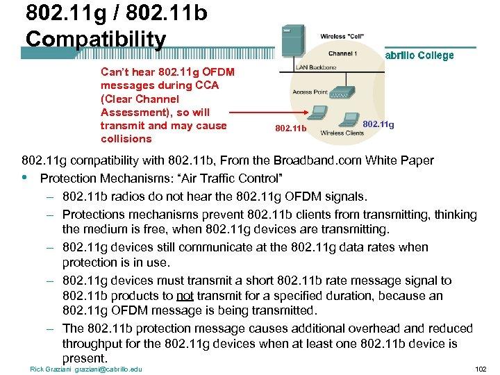 802. 11 g / 802. 11 b Compatibility Can't hear 802. 11 g OFDM