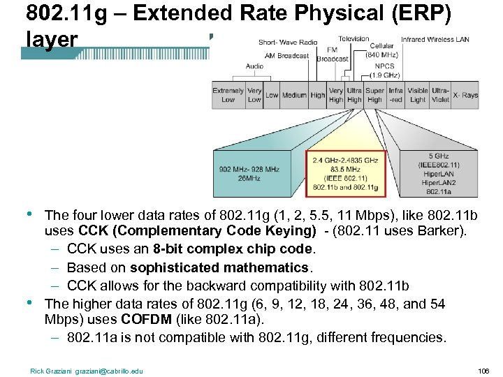 802. 11 g – Extended Rate Physical (ERP) layer • • The four lower