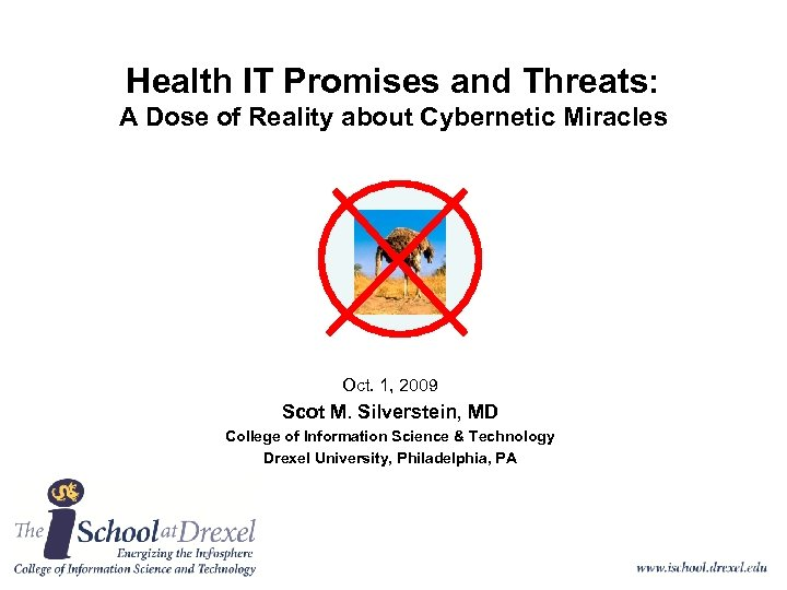 Health IT Promises and Threats: A Dose of Reality about Cybernetic Miracles Oct. 1,